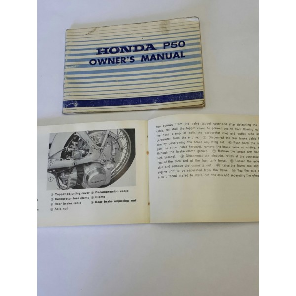 Honda P50 Owners Manual