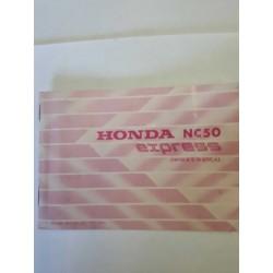 Honda NC50 Express Owners Manual