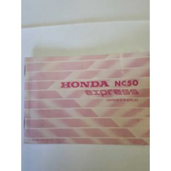 Honda NX50 and NX50M Owners Manual