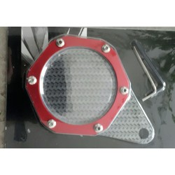 Motorcycle Tax disc holder. Red