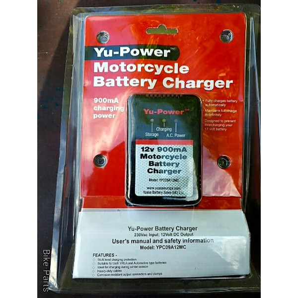 YU- Power Motorcycle Battery Charger