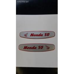 Honda C100 Petrol Tank Stickers