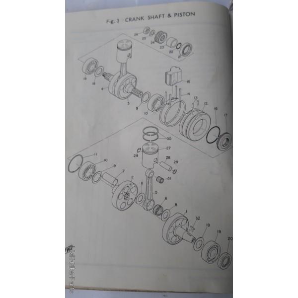 Yamaha 93306-20504 Crank Bearing  YAS1 125