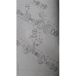 Yamaha 93306-30403 Crank Bearing YAS1 125