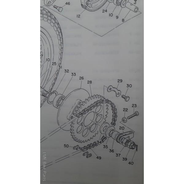 Yamaha RD 350 93306-20503 Back Hub Bearing