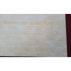 Honda CB400A Owners Manual