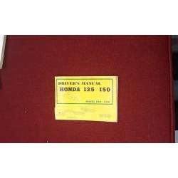 Honda Vintage C92 C95 Driver's Manual