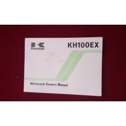 Kawasaki Manual KH 100 EX
