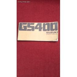 Suzuki GS400 Owners Manual 1976