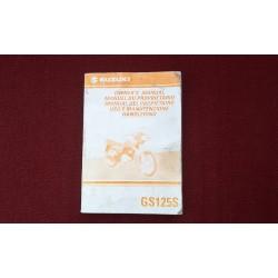 Suzuki GS125S Owners Manual  1998