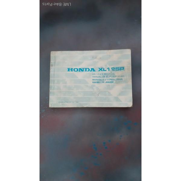 Honda XL125R Owners Manual