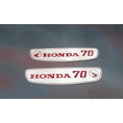 Honda 70 Petrol Tank Sticker Set