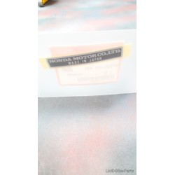 Honda Sticker Decal Label 87125-041-680