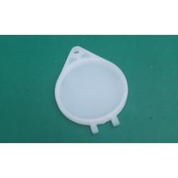 Plastic Tax Holder in White