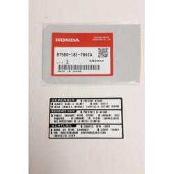 Honda 87560-181-760ZA Drive Caution Sticker